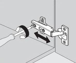 Регулируем мебельную петлю